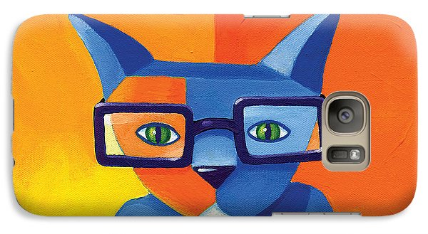 Business Cat Galaxy Case by Mike Lawrence