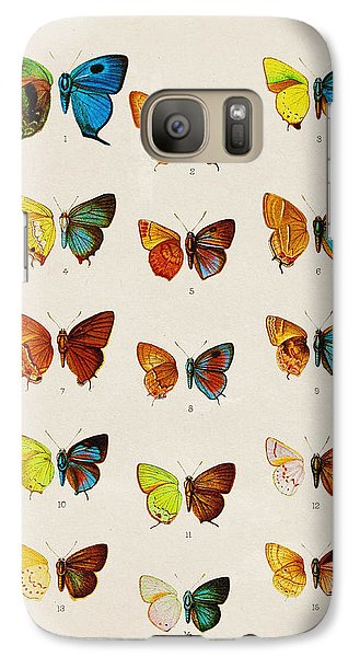 Butterfly Plate Galaxy Case by Pati Photography