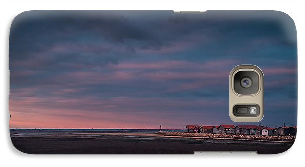Galaxy Case featuring the photograph Cabanes by Thierry Bouriat