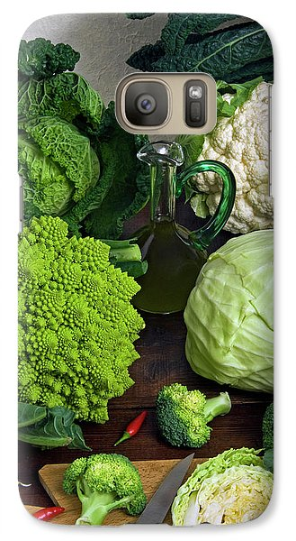Cabbages -clockwise- Broccoli Galaxy S7 Case by Nico Tondini