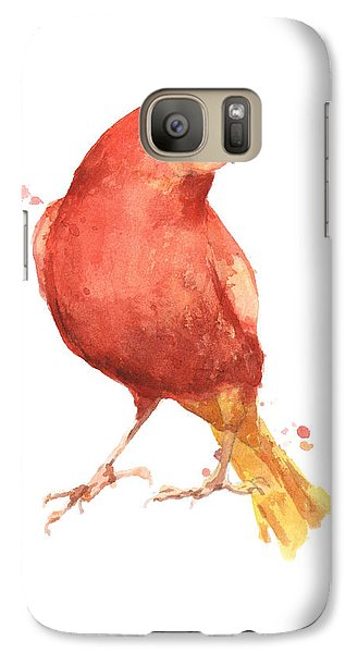 Canary Bird Galaxy S7 Case by Alison Fennell