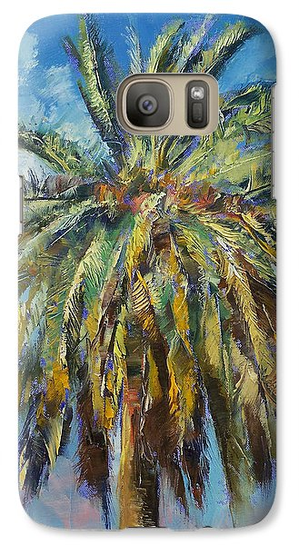 Canary Island Date Palm Galaxy S7 Case by Michael Creese