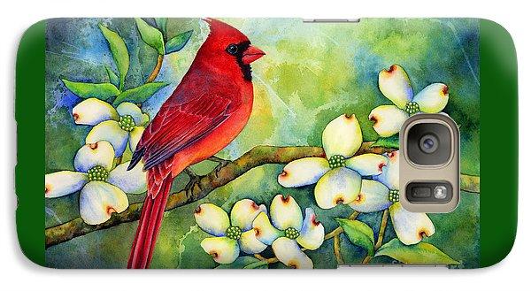 Cardinal On Dogwood Galaxy Case by Hailey E Herrera