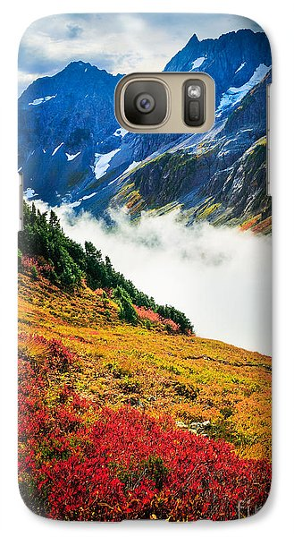 Cascade Pass Peaks Galaxy Case by Inge Johnsson