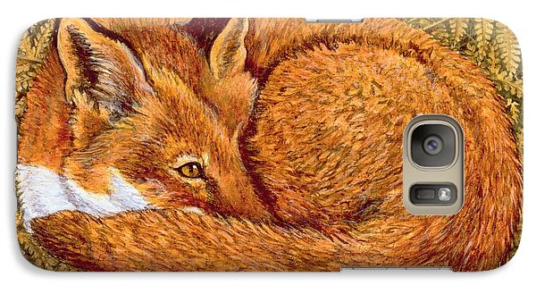 Cat Napping Galaxy Case by Ditz