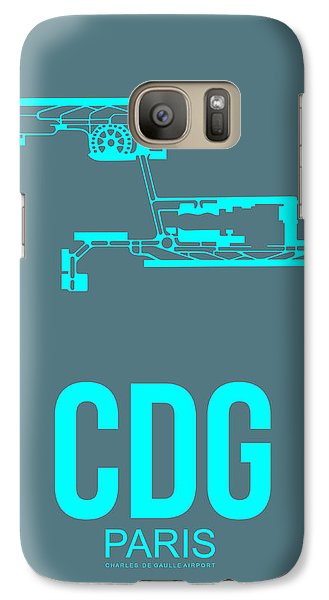 Cdg Paris Airport Poster 1 Galaxy S7 Case by Naxart Studio