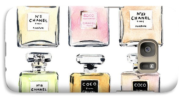 Chanel Perfumes Galaxy S7 Case by Laura Row Studio