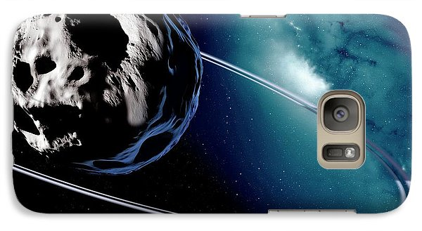 Chariklo Minor Planet And Rings Galaxy Case by Detlev Van Ravenswaay