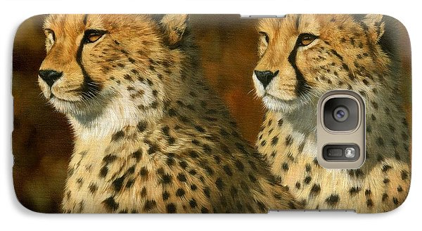 Cheetah Brothers Galaxy S7 Case by David Stribbling