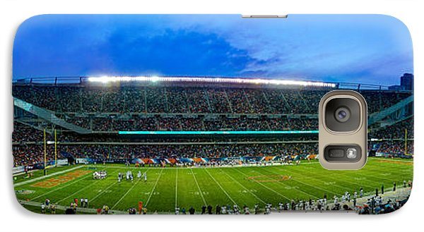 Chicago Bears At Soldier Field Galaxy Case by Steve Gadomski