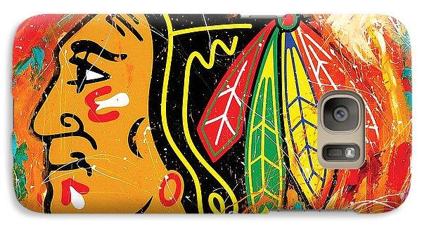 Chicago Blackhawks Logo Galaxy S7 Case by Elliott From