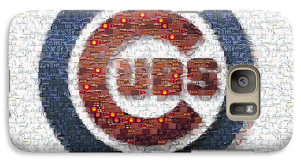 Chicago Cubs Mosaic Galaxy S7 Case by David Bearden