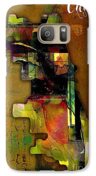 Chicago Map Watercolor Galaxy Case by Marvin Blaine