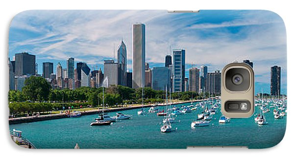Chicago Skyline Daytime Panoramic Galaxy Case by Adam Romanowicz