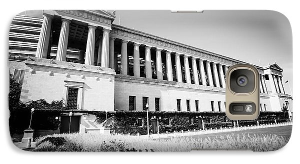 Chicago Solider Field Black And White Picture Galaxy Case by Paul Velgos