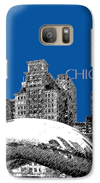 Chicago The Bean - Royal Blue Galaxy S7 Case by DB Artist