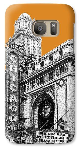Chicago Theater - Dark Orange Galaxy Case by DB Artist