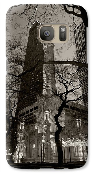 Chicago Water Tower B W Galaxy Case by Steve Gadomski