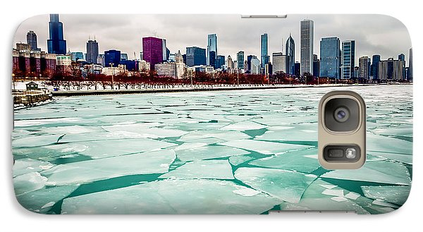 Chicago Winter Skyline Galaxy Case by Paul Velgos