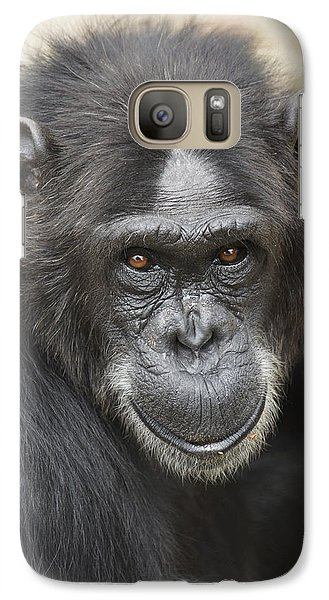 Chimpanzee Portrait Ol Pejeta Galaxy S7 Case by Hiroya Minakuchi