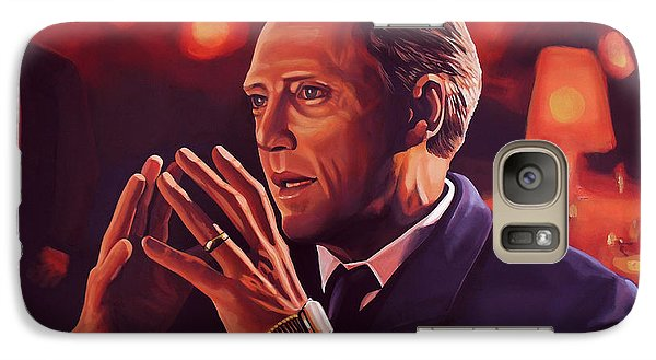 Christopher Walken Painting Galaxy S7 Case by Paul Meijering