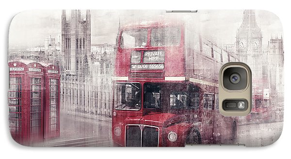 City-art London Westminster Collage II Galaxy S7 Case by Melanie Viola