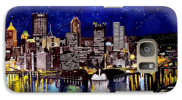 City Of Pittsburgh At The Point Galaxy S7 Case by Christopher Shellhammer