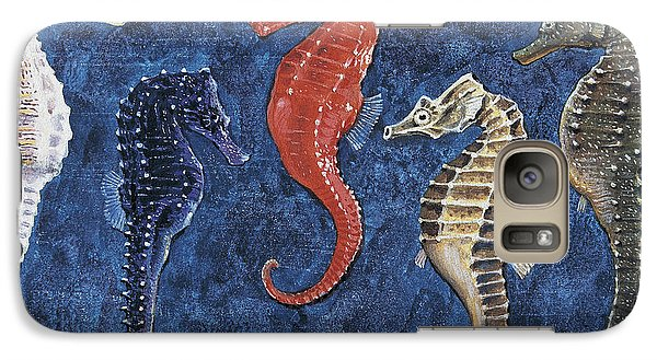 Close-up Of Five Seahorses Side By Side  Galaxy S7 Case by English School