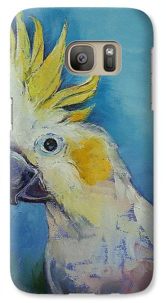 Cockatoo Galaxy S7 Case by Michael Creese