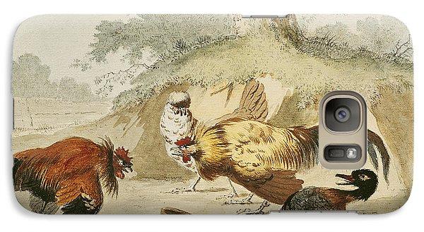 Cocks Fighting Galaxy S7 Case by Melchior de Hondecoeter
