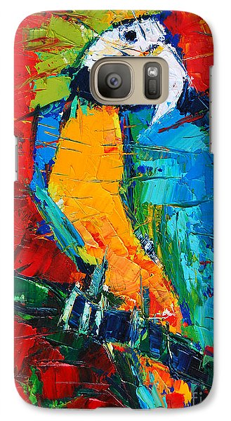 Coco The Talkative Parrot Galaxy Case by Mona Edulesco