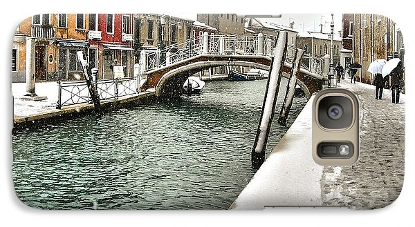 Galaxy Case featuring the photograph Cold Winter In Venice by Thierry Bouriat