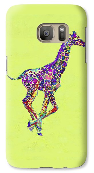 Colorful Baby Giraffe Galaxy Case by Jane Schnetlage