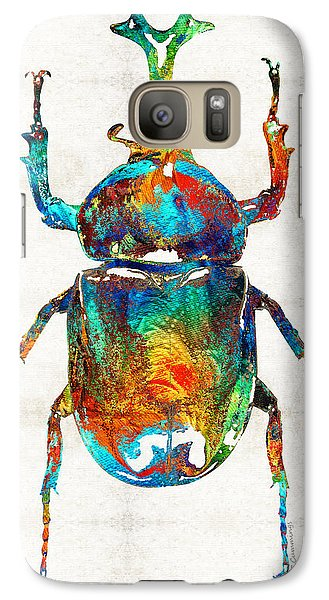 Colorful Beetle Art - Scarab Beauty - By Sharon Cummings Galaxy S7 Case by Sharon Cummings