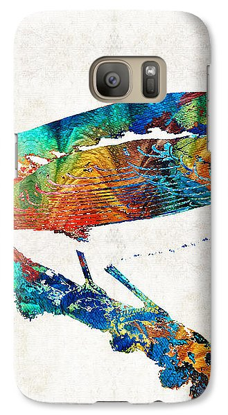 Colorful Bird Art - Sweet Song - By Sharon Cummings Galaxy S7 Case by Sharon Cummings