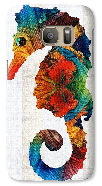 Colorful Seahorse Art By Sharon Cummings Galaxy S7 Case by Sharon Cummings