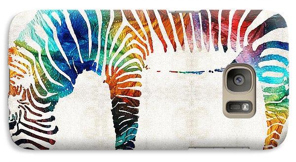 Colorful Zebra Art By Sharon Cummings Galaxy Case by Sharon Cummings