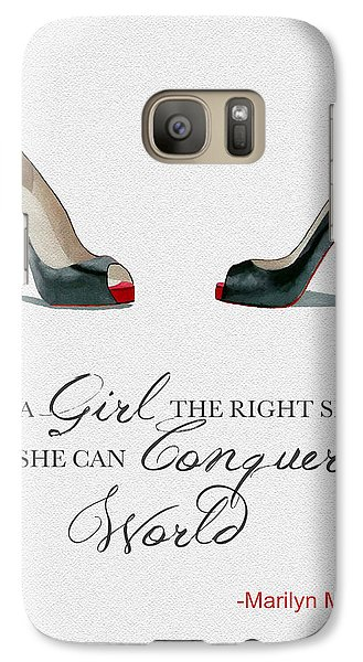 Conquer The World Galaxy S7 Case by Rebecca Jenkins