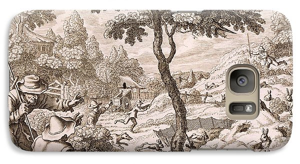 Cony Catching, Engraved By Wenceslaus Galaxy S7 Case by Francis Barlow