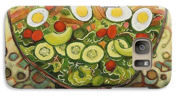 Cool Summer Salad Galaxy Case by Jen Norton