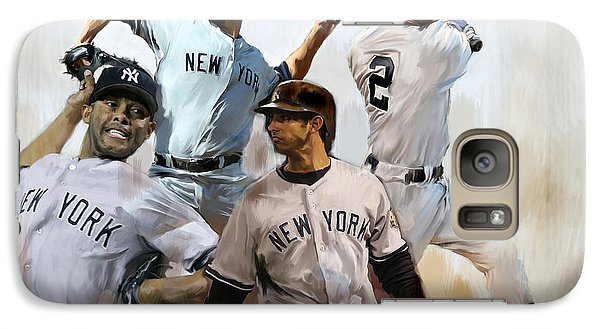 Core  Derek Jeter Mariano Rivera  Andy Pettitte Jorge Posada Galaxy Case by Iconic Images Art Gallery David Pucciarelli