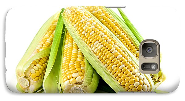 Corn Ears On White Background Galaxy S7 Case by Elena Elisseeva