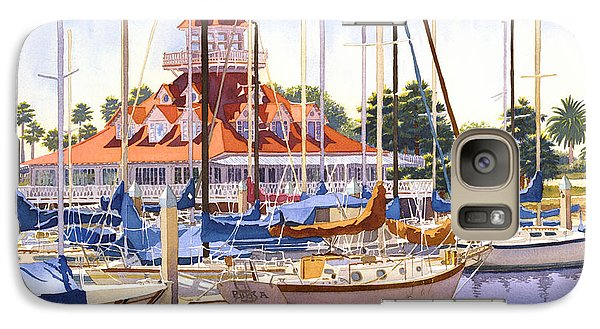 Coronado Boathouse Galaxy S7 Case by Mary Helmreich