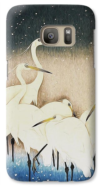 Cranes  Galaxy Case by Shanina Conway