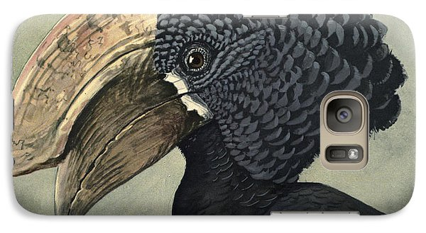 Crested Hornbill Galaxy S7 Case by Louis Agassiz Fuertes