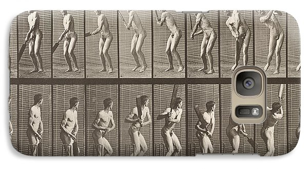 Cricketer Galaxy S7 Case by Eadweard Muybridge