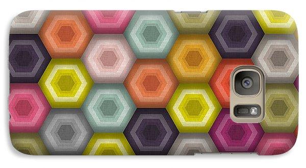 Crochet Honeycomb Galaxy S7 Case by Sharon Turner