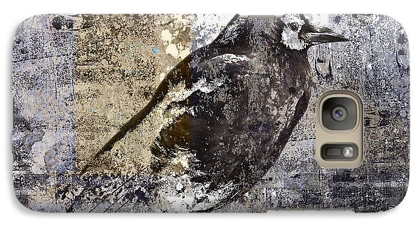 Crow Number 84 Galaxy S7 Case by Carol Leigh