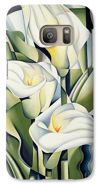 Cubist Lilies Galaxy S7 Case by Catherine Abel