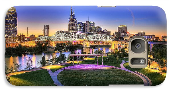 Cumberland Park And Nashville Skyline Galaxy Case by Lucas Foley